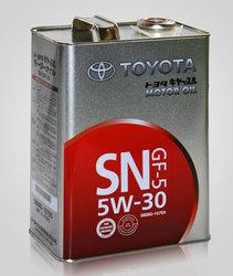 Toyota Motor Oil 5w30 SN/GF-5, 4L (полусинтетика)
