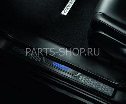 Накладки на пороги с подсветкой Honda CR-V