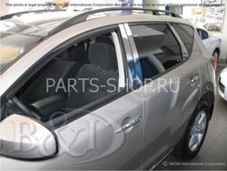 Молдинги для стоек дверей (8 частей из н/с) Nissan Murano 2009-