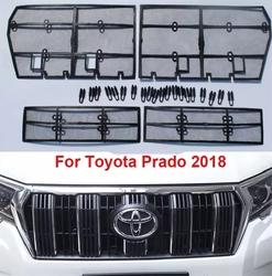 Защитные сетки в решётки lc prado 2018 (4 части)