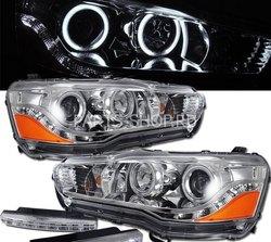 Фары линзовые хром Lancer в стиле EVO (комплект)