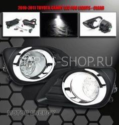 Фары противотуманные для Toyota Camry на 10-11г. с хром окантовкой (комплект)