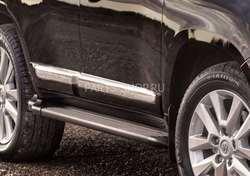 Молдинги боковые на двери LC200 рестайлинг 2012- (оригинал)
