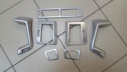 Накладки в салон LC200 под матовый хром (7 предметов)