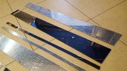 Накладки-молдинги на стойки дверей LC100 хромированные (4 части)