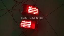 Задние противотуманные фонари prado 120 диодные, красные