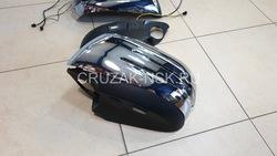 Корпуса зеркал LX570/GX460/LC200/LC150 с повторителями поворотов и подсветкой дизайн Mercedes, хром