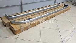 Вставки штатного порога серебристая LC150 prado (оригинал)