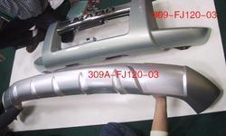 Накладка на штатную защиту переднего бампера lc120