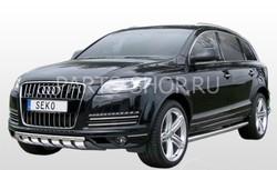 Пороги трубообразные 76 мм, нерж. Audi Q7