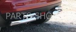 Защита заднего бампера двойная Juke(передний привод)
