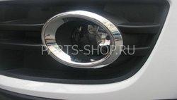Накладки на туманки хромированные Audi Q5
