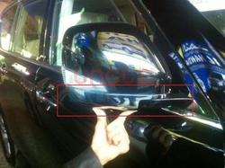 Хромированные накладки на боковые зеркала под повторители поворотов Nissan Patrol