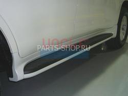 Пороги внешние пластиковые Aero Step на lc200 стиль LX570