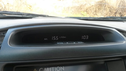 GX470 вставка панели приборов для переделки вместо фаренгейтов и миль