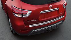 Накладка на верх заднего бампера pathfinder 2014