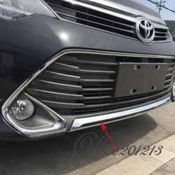 Накладка хромированная на передний бампер Camry50 2014-
