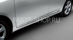 Боковые молдинги хромированные по низу двери Corolla