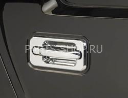 Хромированные накладки на ручки дверей Hummer (8 частей)