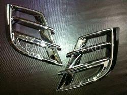 Накладки хромированные на фары противотуманные Mazda 3 2009-