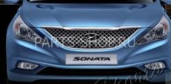 Решетка радиатора стиль Bentley хром Sonata