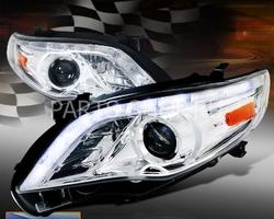Фары передние хром, стиль Audi R8 для Corolla 2011-