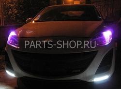 Дневные ходовые огни в штатное место на Mazda 3