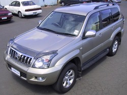Дефлектор капота Toyota Land Cruiser Prado 120 дымчатый