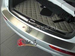 Накладка на задний бампер S-Line Audi Q5 (нержавейка)