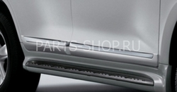 Молдинги боковые широкие LX570 (черные, белые либо под покраску)