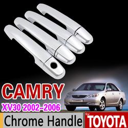 Накладки на ручки дверей Camry30, хром комплект, под два ключа или один