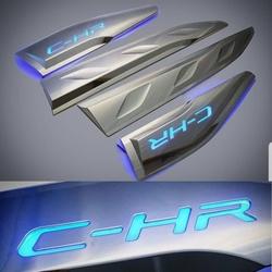 Молдинги на двери с подсветкой и логотипом c-hr