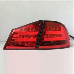 Фонари задние Civic 4D style BMW (комплект) красные и дымчатые