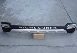 Накладка на задний бампер highlander 10-13