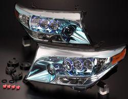 Фары lc200 стиль ls600h, 4 линзы (комплект)