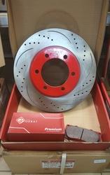 Диски тормозные вентилируемые перфорированные (комплект)