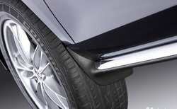 Брызговики с хромированным молдингом для Mazda CX-7 2010-