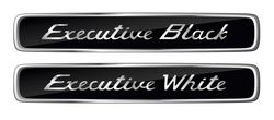 Эмблема Executive White and Black