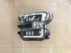 Фары линзовые, с ходовыми огнями для ford f-150 2015 (хром или черные)