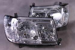 Оптика передняя Land Cruiser 100 до 2005 года в стиле 2006 года (цельная, комплект)