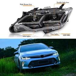 Передние фары линзовые camry 2014, дизайн Audi