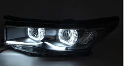 Фары линзовые highlander 2015 дизайн BMW