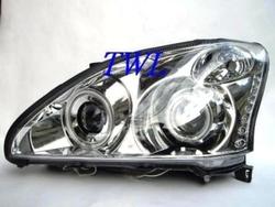 """Фары Lexus RX330-400h линзовые хромированные с """"ангельскики глазками"""" и диодной подсветкой"""