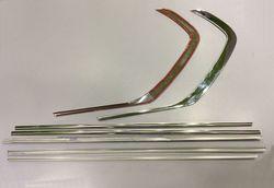 Молдинги стекол 3D из нержавейки на lc150 дизайн gx460 (6 частей)