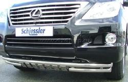 Защита переднего бампера LX570 с защитой картера