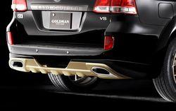 Губа, обвес задний GoldMan LC200 08-14 / LX570 08-12