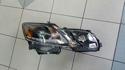 Фары линзовые gs300/350 с ходовыми огнями, чёрные