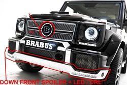 Губа переднего бампер в стиле Brabus с ходовыми огнями + накладка на бампер