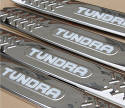Накладки на пороги для tundra, с подсветкой
