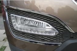 Хромированные накладки вокруг противотуманных фар Hyundai Santa FE
